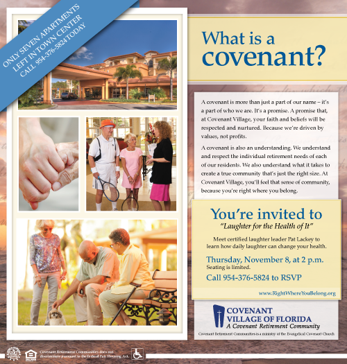 covenant village of florida retirement community